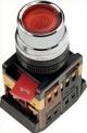 Кнопка ABLFP-22 красный d22мм неон/240В 1з+1р