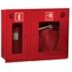 Шкаф пожарный ШПК-315 ВОК встраиваемый откр. красный (840х650х230мм.)