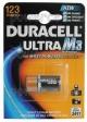 Элемент питания DURACELL 123 ULTRA  BL 1